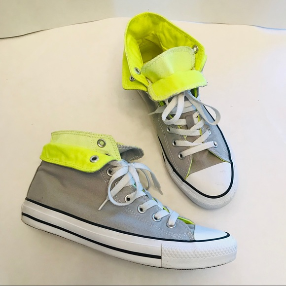 Converse Shoes   Womens Grey And Lime